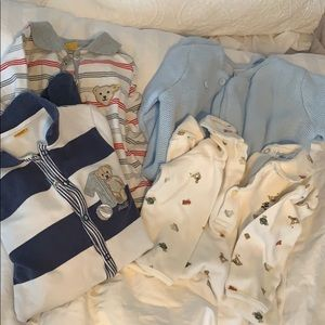 Lot of coveralls (4) for baby boy.